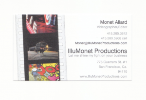 Monet Business Card
